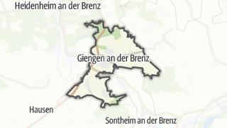 Cartina / Giengen an der Brenz
