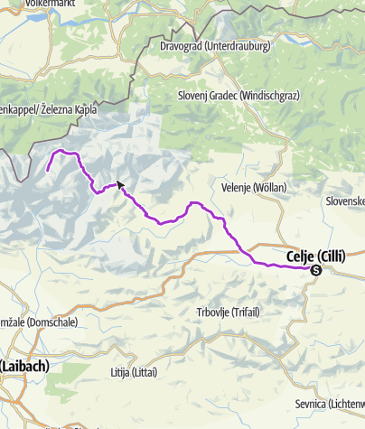 Karte / Ultramarathon Celje-Logarska