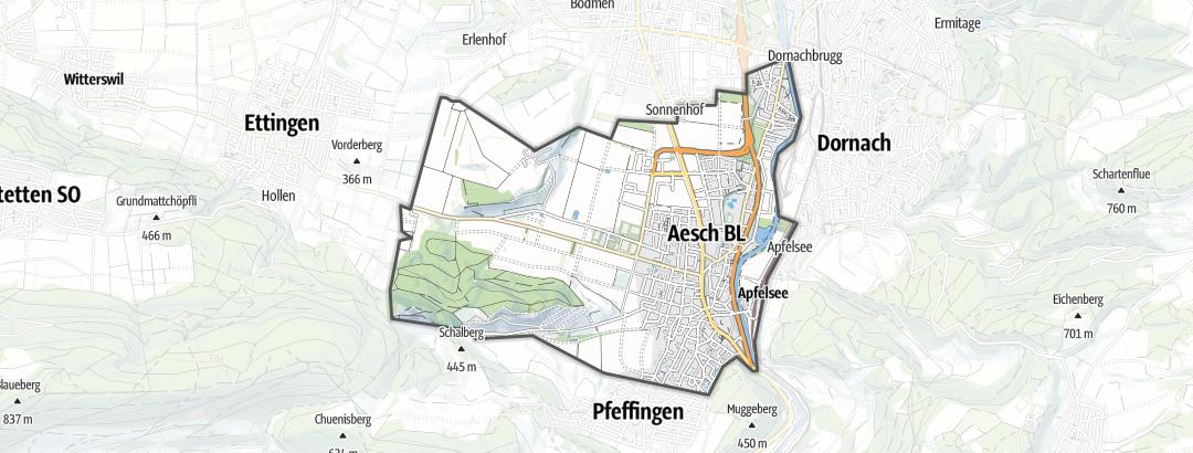 Carte / Vélo - Aesch (BL)