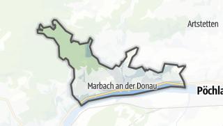 Cartina / Marbach an der Donau