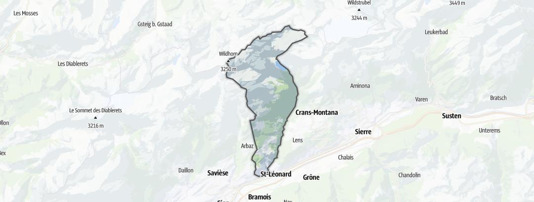 Térkép / Túrázás,  Ayent területén