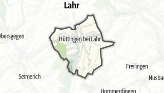 Karte / Hüttingen bei Lahr