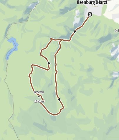Mapa / Ilsetal zum Brocken