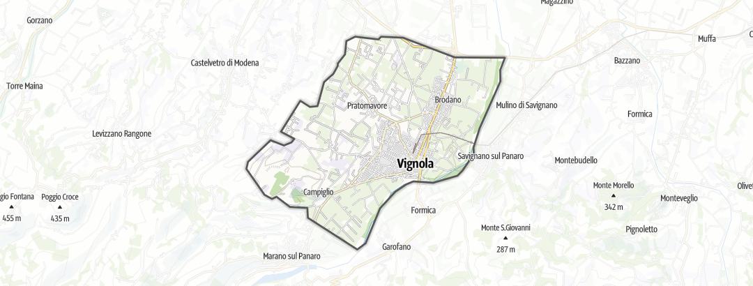 Carte / Grandes randonnées à vélo - Vignola