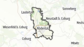 Hartă / Rödental