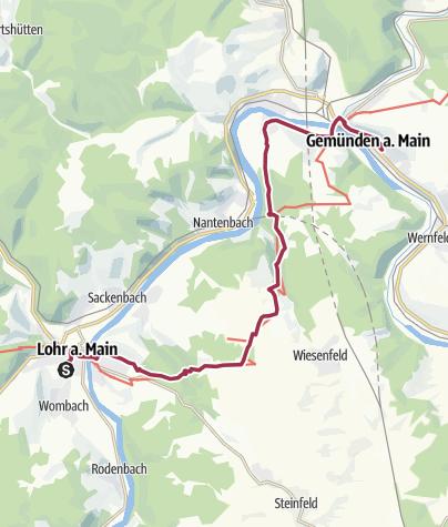 Karte / Lohr Marienweg