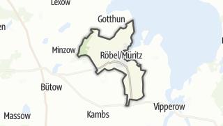 Carte / Roebel/Mueritz