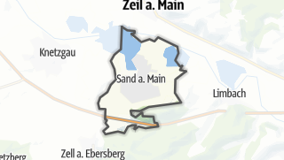 Mapa / Sand am Main