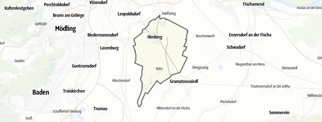 Mapa / Trilhas de caminhada em Himberg