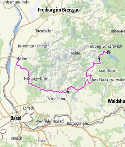 Karte / Vom Schluchsee ins Rheintal (Müllheim)
