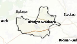 Mapa / Orsingen-Nenzingen