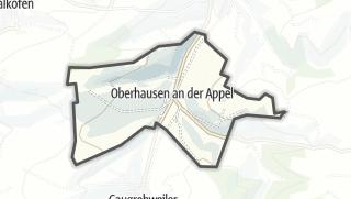 Karte / Oberhausen an der Appel