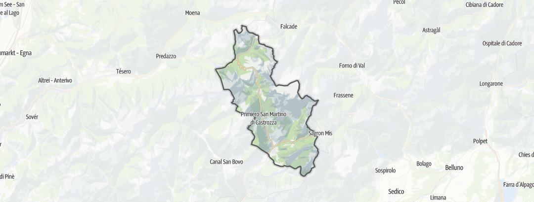Karte / Bergtouren in Primiero San Martino di Castrozza
