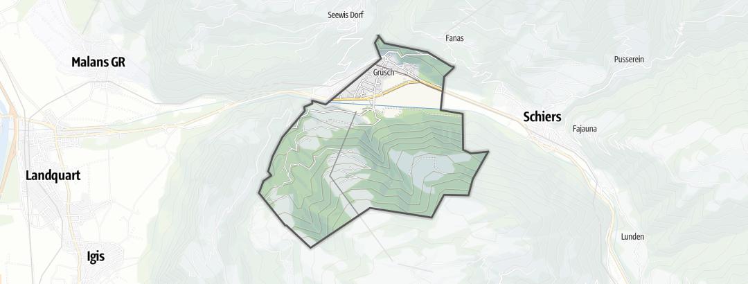 Hartă / Trasee de ciclism montan in Grüsch