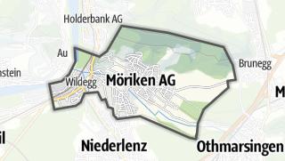 מפה / Möriken-Wildegg
