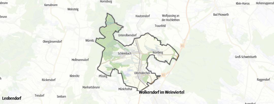 Hartă / Drumeţii in Ulrichskirchen-Schleinbach