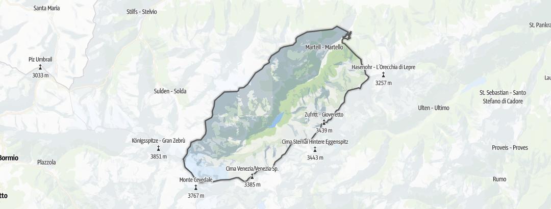 Hartă / Drumeții montane in Martell