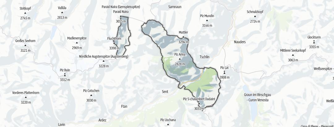 Mapa / Rutas BTT en Ramosch