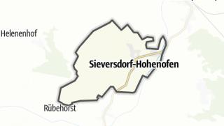 Carte / Sieversdorf-Hohenofen