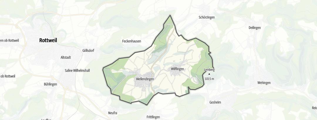 Karte / Wanderungen in Wellendingen