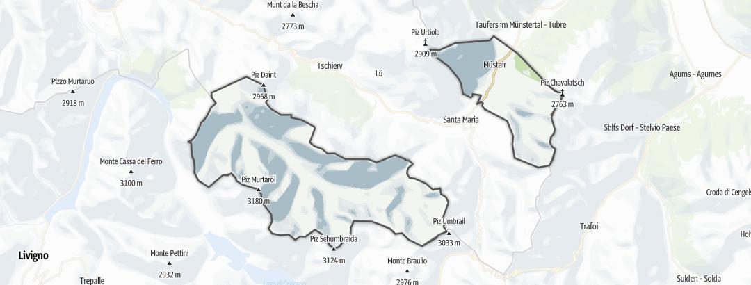 Mapa / Rutas BTT en Müstair