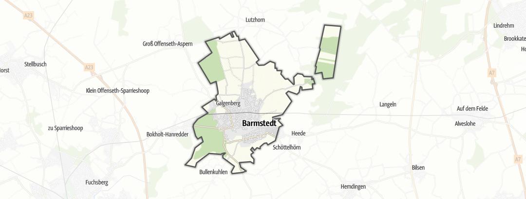 Térkép / Lovaglás,  Barmstedt területén