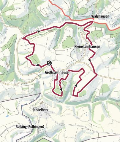 Karte / Westwallweg (rot)