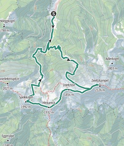 Karte / Zeiritzkampl 2125 m und Trabanten in den Eisenerzer Alpen