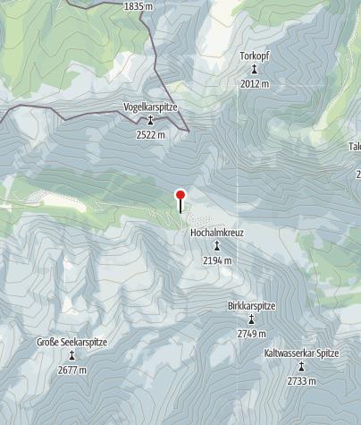 Map / Hochalmsattel (Karwendel) noch schneebedeckt