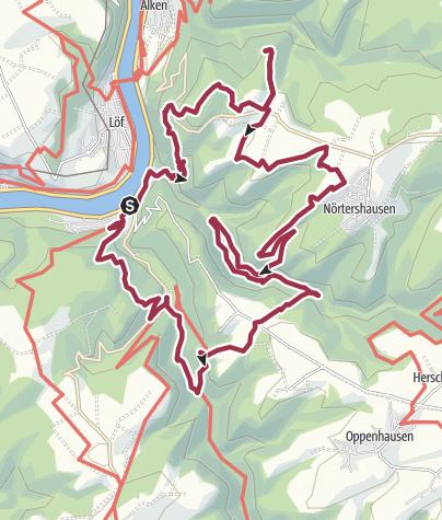 Karte / Bergschluchtenpfad Ehrenburg mit Hunden (leichte Abwandlung)