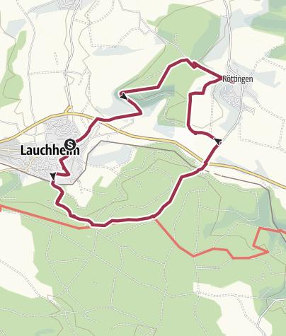 Karte / Um Lauchheim