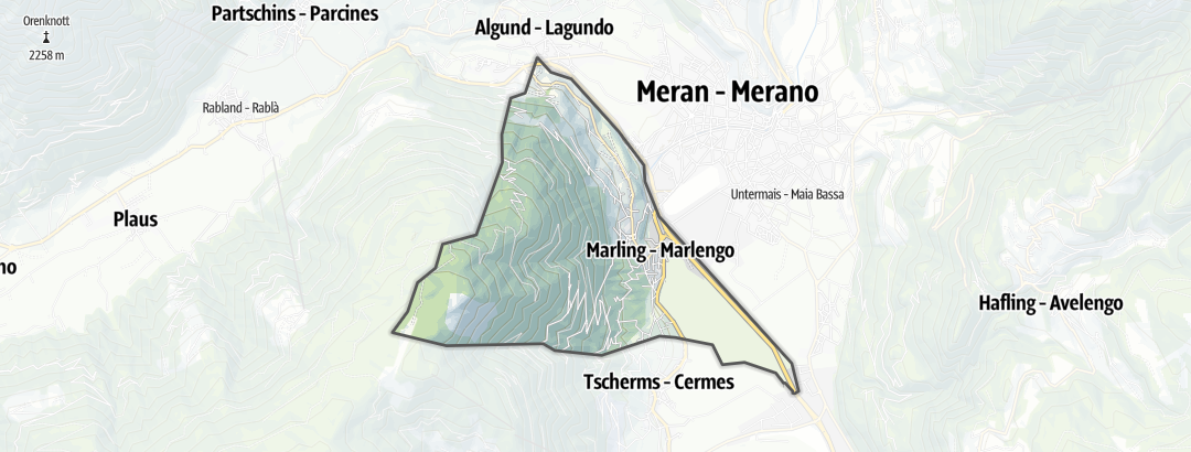Karte / Rennradtouren in Marling