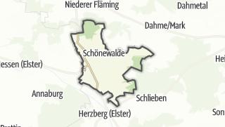 Hartă / Schönewalde