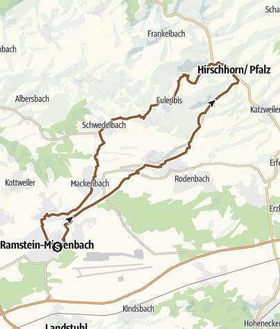 Karte / MTB Tour Ramstein-Hirschhorn-Eulenbis