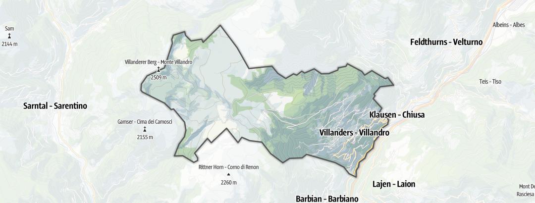 Mapa /  Vías de escalada alpina en Villanders