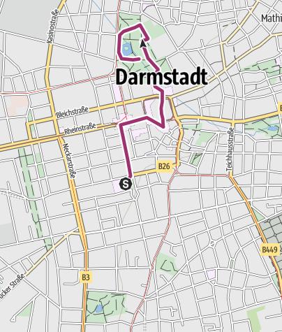 Karte / Darmstadts Innenstadt historisch entdecken
