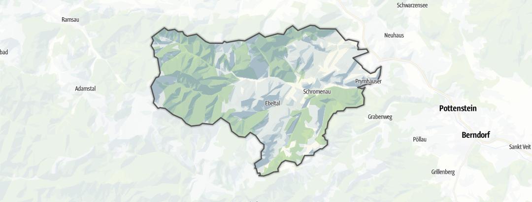Karte / Wanderungen in Furth an der Triesting