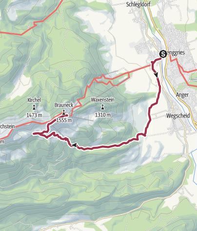 Karte / Über die Stie-Alm zum Brauneck