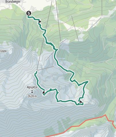 Karte / Mauerscharte im Wetterstein