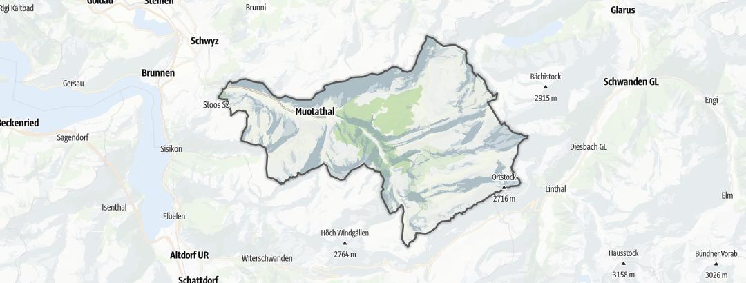 Mapa / Rutas en bicicleta en Muotathal