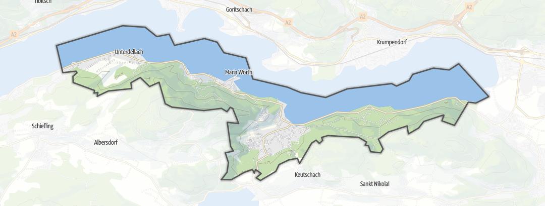 Karte / Wanderungen in Maria Wörth