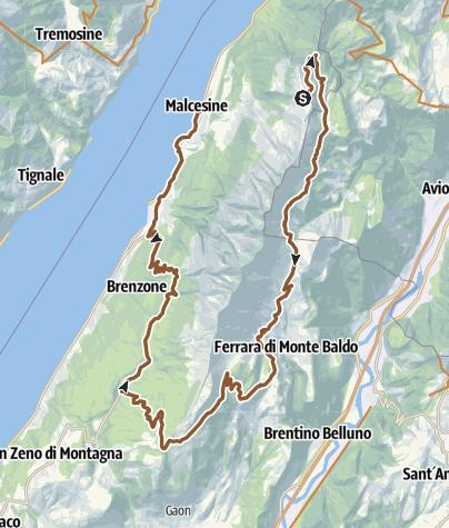 Map / Mountainbike am Monte Baldo