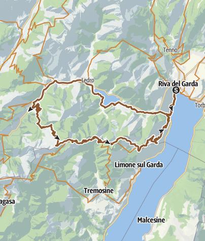 Map / Mountainbike am Gardasee: Der Tremalzo Pass