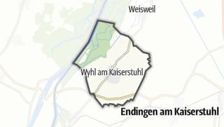 Mapa / Wyhl am Kaiserstuhl