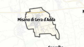 Hartă / Misano di Gera d'Adda