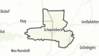 Mapa / Schwanebeck