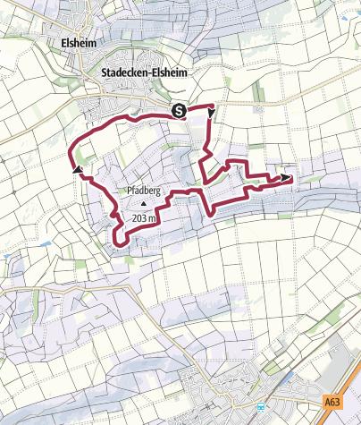 Karte / Hiwweltour Stadecker Warte