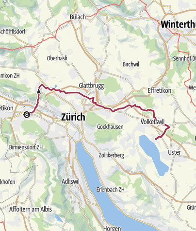 מפה / Schlieren - Wangen - Volketswil - Greifensee