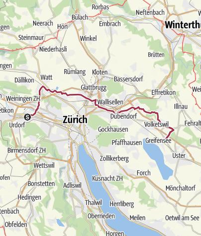 Mapa / Schlieren - Wangen - Volketswil - Greifensee