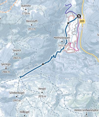 地图 / Südwiener Hütte, Obertauern